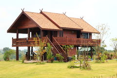 Teak house Royalty Free Stock Photo