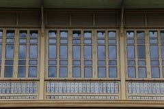Teak Palace. Teak wood palace in Thailand Stock Photo