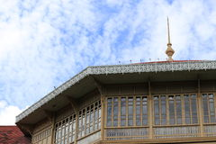 Teak Palace. Teak wood palace in Thailand Stock Images