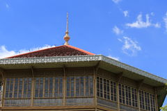 Teak Palace. Teak wood palace in Thailand Royalty Free Stock Images