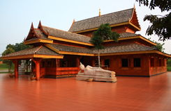 Teak Pavilion. Beautiful Teak Pavilion by day Royalty Free Stock Images