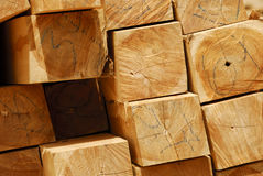 Teak pile Royalty Free Stock Photos