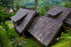 Teak roof on high  moutain Stock Photos