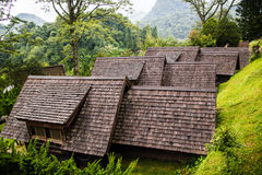 Teak roof on high  moutain Royalty Free Stock Photography