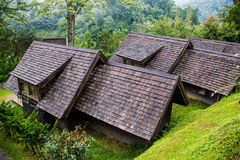 Teak roof on high  moutain Stock Photo