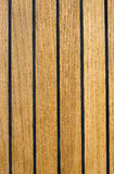 Teak texture. From a modern, new boat royalty free stock images