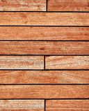 Teak wood deck, brown texture background stock photos