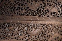 teak wood carving background Royalty Free Stock Photos