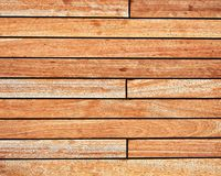 Teak wood deck, brown texture background stock photo