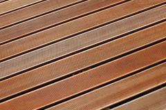 Teak wood decking Stock Photo