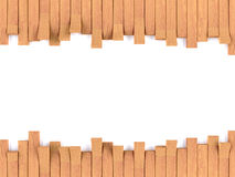 Teak wood frame on white Stock Image