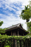 Teak wood home lanna Thailand style with sky Stock Photos