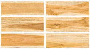 Teak wood plank surface Stock Photo