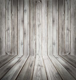 Teak wood plank texture background perspective black and white. Royalty Free Stock Photography