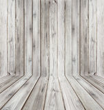 Teak wood plank texture background perspective black and white. Stock Photos