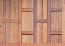 Teak wood wall background Royalty Free Stock Image
