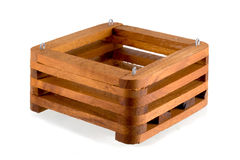 Teak Wooden Baskets Stock Photos