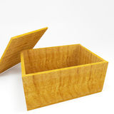 Teak wooden crate. Teak  wooden crate on white background Stock Images