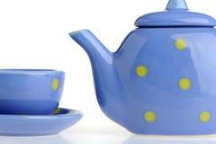 teakettle φλυτζανιών χρώματος Στοκ Εικόνες