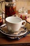 Teakettle of herbal tea Royalty Free Stock Images