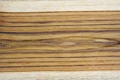 Teakholz-Holzbeschaffenheit mit zwei Tönen Lizenzfreies Stockbild