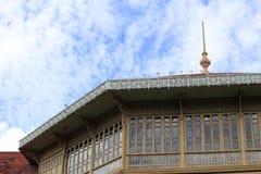 Teakholz-Palast Stockbilder