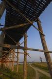 Teakholzbrücke in Mandalay Stockbilder