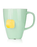 Teakopp med teabagen Royaltyfria Bilder
