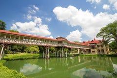 Teakträträ på den Sanamchandra slotten Fotografering för Bildbyråer