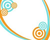 teal померанца рамки круга иллюстрация вектора