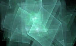 teal фрактали накаляя Стоковые Изображения RF