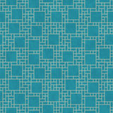 Teal And Yellow Square Abstract Geometric Design Tile Pattern Re