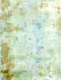 Teal and Beige Abstract Art Painting Stock Image