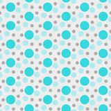 Teal, bianco e fondo di ripetizione di Gray Polka Dot Tile Pattern Immagine Stock Libera da Diritti