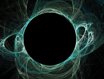 Teal black hole sun. Computer rendered teal black hole sun Royalty Free Stock Photo