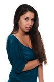Teal blouse Royalty Free Stock Image