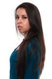 Teal blouse Royalty Free Stock Images