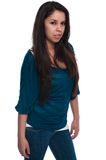 Teal blouse Stock Images