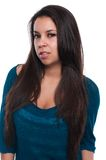 Teal blouse Royalty Free Stock Photo