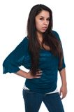 Teal blouse Royalty Free Stock Photography