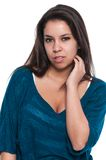 Teal blouse Royalty Free Stock Photos