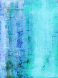 Teal and Blue Abstract Art Painting Royalty Free Stock Photography