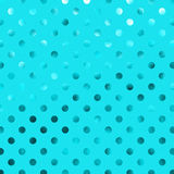 Teal Blue Aqua Metallic Foil Polka Dot Pattern Royalty Free Stock Photography