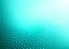 Teal Blue Dot Swirl Background abstracto Stock de ilustración