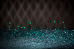 Teal Blue Glitter Lights Background Chispa Bokeh del vintage con Fotos de archivo libres de regalías