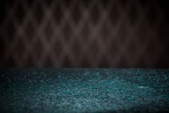Teal Blue Glitter Lights Background Chispa Bokeh del vintage con Fotos de archivo