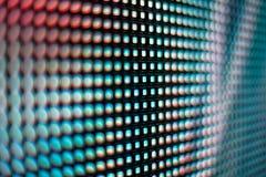 Teal blured l'écran de smd de LED Photographie stock libre de droits