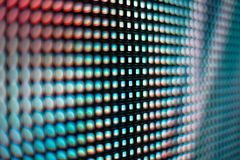 Teal blured LED smd screen Royalty Free Stock Photography