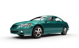 Teal Business Car Stock Photo