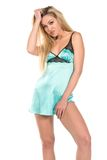 Teal chemise Royalty Free Stock Image